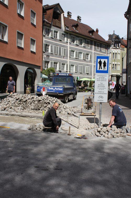 Die Montfortgasse ist noch bis 5. Mai gesperrt. Foto: doh