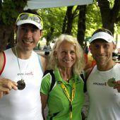 """<p class=""""caption"""">Die """"Speed Friends"""" mit Thomas Dallapiccola und Norbert Golcmann als Sieger bei den Zweier-Teams.</p>"""