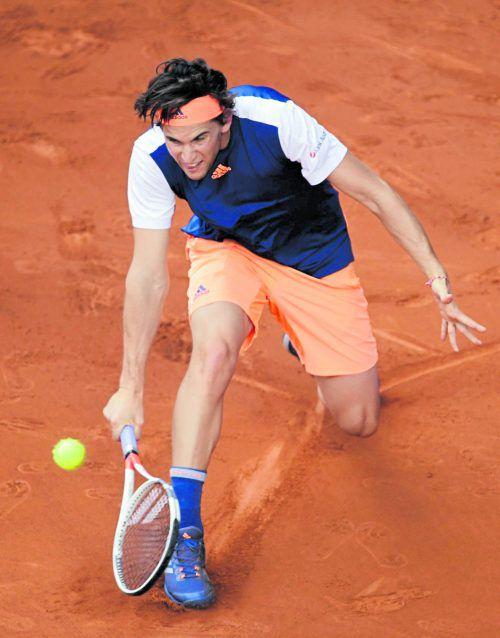 Dominic Thiem bot Rafael Nadal beim Heimturnier in Madrid die Stirn, erst nach 2:17 Stunden ging der Spanier als Sieger vom Court. Foto: apa