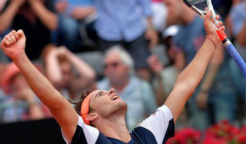 Dominic Thiem steht als erster Österreicher seit Thomas Muster (1996) im Rom-Halbfinale. Foto: AFP