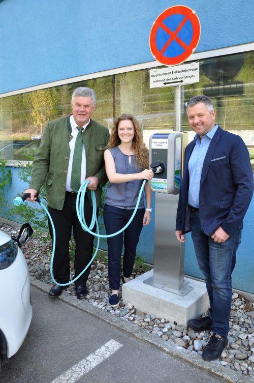 E-Tankstellen wie jene beim VAL BLU sind in der Alpenstadt auf dem Vormarsch. Foto: Stadt Bludenz