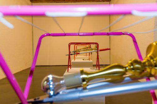 Ein Teil der vielschichtigen, spannenden Installation im Bregenzer Künstlerhaus Palais Thurn und Taxis. Foto: VN/Paulitsch