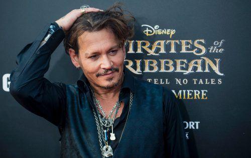 """Ende Mai wird Depp zunächst erneut als Kapitän Jack Sparrow im fünften Teil der Reihe """"Pirates of the Caribbean"""" zu sehen sein. Foto: apa"""