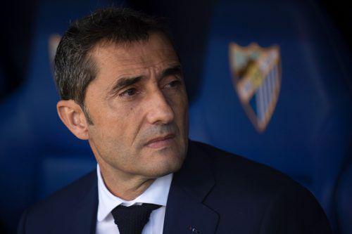 Ernesto Valverde scheint für Barcelona bereit zu sein. Foto: afp