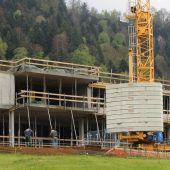 Abt-Pfanner-Haus in Langen vor Richtfest