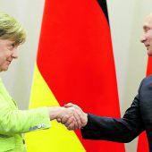 Merkel und Putin halten an Friedensprozess für die Ukraine fest