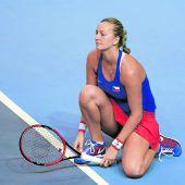 Petra Kvitova steht wieder auf dem Tennisplatz