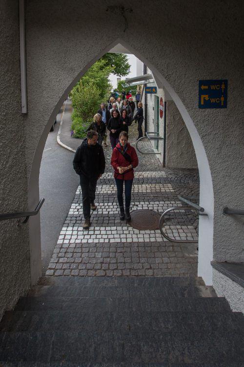 Mit dem früheren Direktor Yilmaz Dziewior ging es auf den Pfänder.