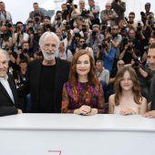 Haneke mit Crew in Cannes