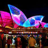 Licht-Festival verwandelt Sydney in ein Farbenmeer