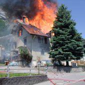 Wohnhaus vollständig zerstört