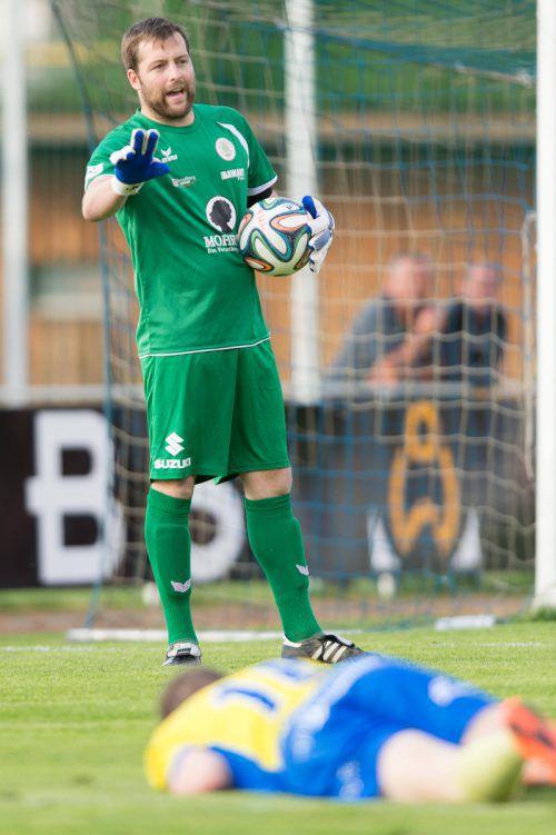 Goalie Dominik Seiwald. stplovsek