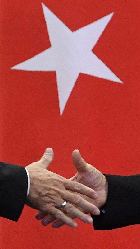 Handshake zwischen Erdogan und Putin Anfang Mai. Foto:AFP