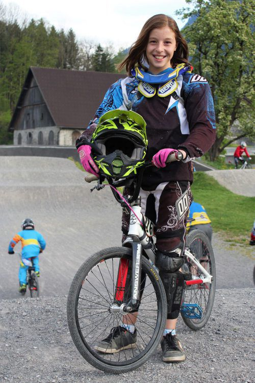 Hannah Muther gehört seit Kurzem dem österreichischen BMX-Nachwuchskader an. Foto: VN/js