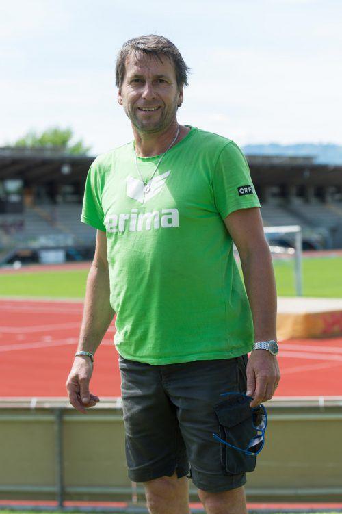 Herbert Werchounik, Platzwart im Möslestadion, ist zum 18. Mal beim Hypo-Mehrkampfmeeting dabei.  Foto: stiplovsek