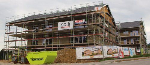 """Im """"Sonnenhaus Krumbach"""" entstehen 20 Wohnungen. stp"""