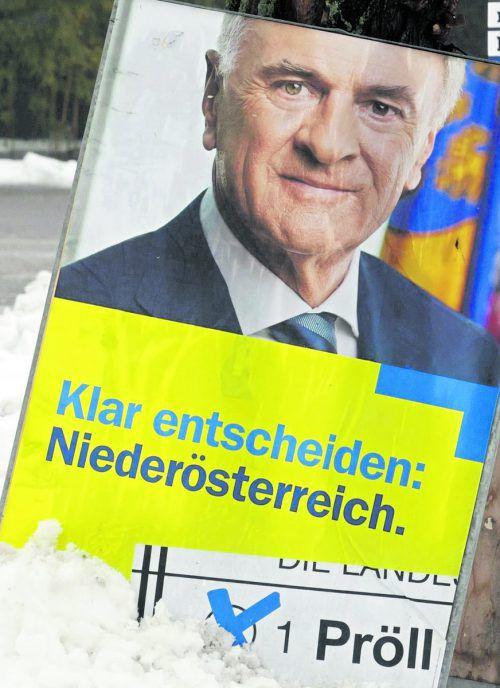 Im Wahlkampf von Pröll rückte die ÖVP in den Hintergrund. APA