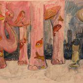 Wie die Katze nachts auf den rosa Elefanten traf
