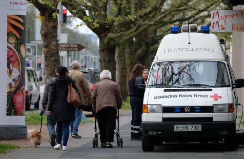 In einem dicht besiedelten Gebiet in Hannover wurden drei Weltkriegsbomben gefunden. Die Anrainer mussten ihre Häuser verlassen. Foto: dpa