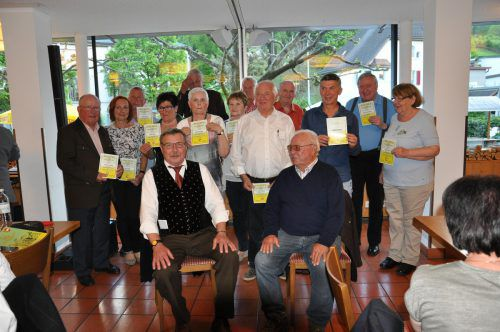 Jubilare der KLM Feldkirch beim Fest in Feldkirch. Foto: Verein