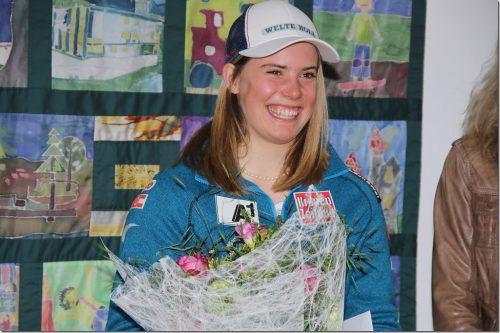 Katharina Liensberger wurde für ihre Topsaison geehrt.  Knobel