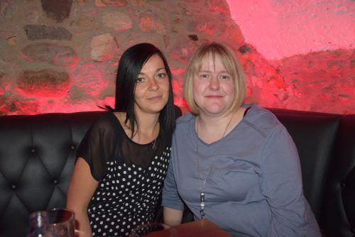 Kerstin Egle und Dagmar Mathies genossen den Abend im Schlössle.