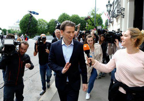 Kurz wird Personalfragen künftig alleine regeln können. Das hat der ÖVP-Vorstand am Sonntag beschlossen. Foto: RTS