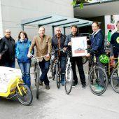 Fahrrad-Zertifikat für Gemeinde Lustenau