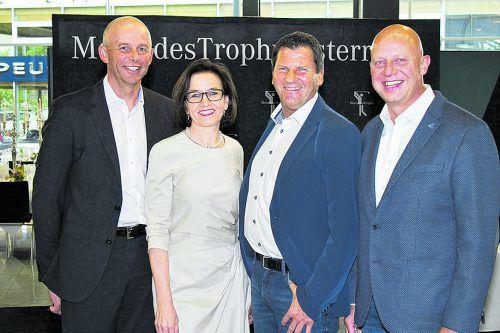 Luden zur Challenge: Hans Egger (l.), Karin Seyfried, Werner Metzler und Horst Wohlfart.  FOTOS: FRANC