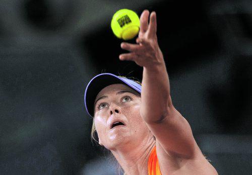Maria Scharapowa spielt in Wimbledon Qualifikation. Foto: reuters