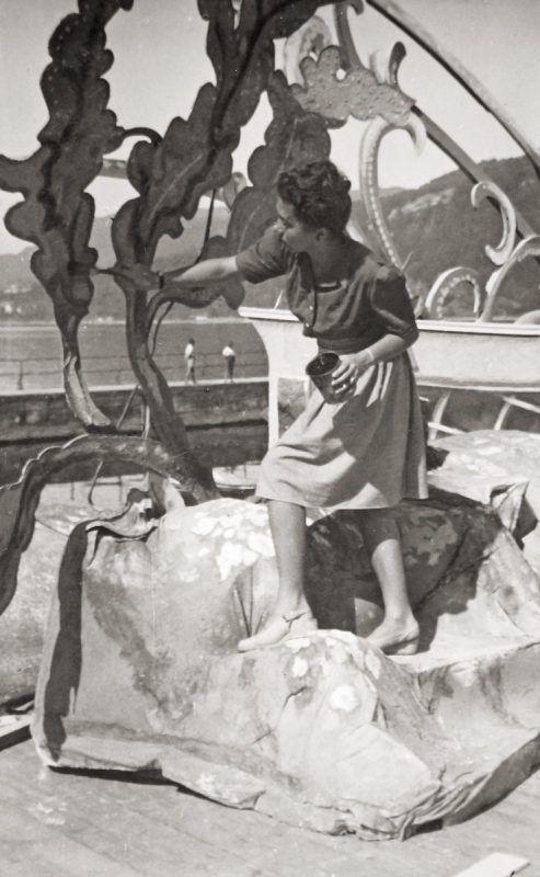 Maria Wanda Milliore 1946 auf der ersten Seebühne. Foto: BF, Milliore