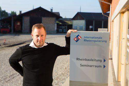 Mathias Speckle ist seit einigen Monaten Rheinbauleiter und steht vor großen Herausforderungen. Foto: VN/Hartinger
