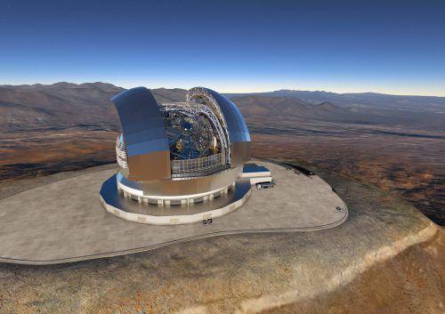Mit einem Hauptspiegel von 39 Metern Durchmesser soll das Teleskop erdähnliche Planeten, Sterne und Galaxien beobachten. Foto: AFP