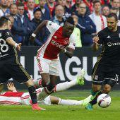 Wirbelwind Ajax fegte über Lyon hinweg