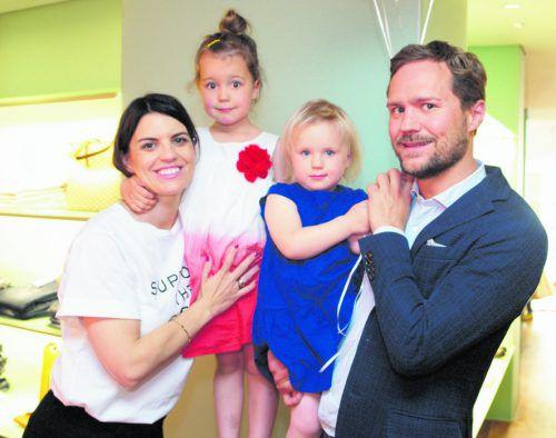 Modemacher und Initiator mit Anhang: Caroline und Clemens Sagmeister sowie Ida und Rosa. Fotos: SIE