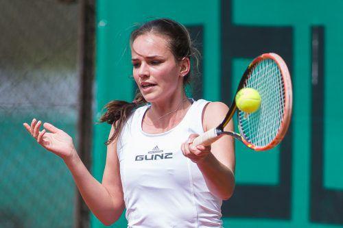 Nadine Mathis holte beim Comeback des TC Dornbirn den Ehrenpunkt bei der 1:6-Heimniederlage gegen Ried. Foto: Steurer