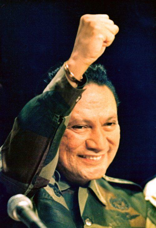 Noriega im Jahr 1988, während einer Rede in Panama City.  reuters