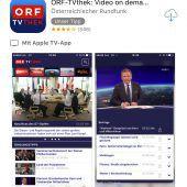 ORF-Mediathek als App für Apple TV verfügbar