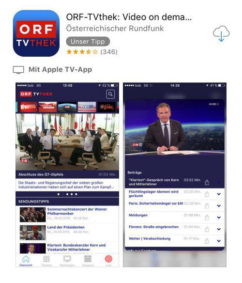 Nun gibt es eine ORF-TVthek-App für Apple TV.