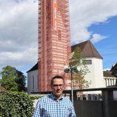 In Altenstadt wird Kirchturm saniert