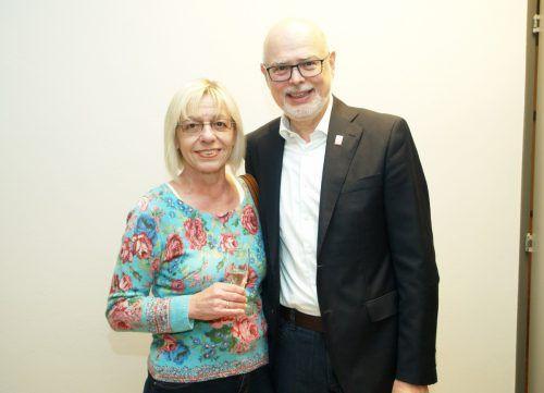 Präsident Peter Ritter (Special Olympics Vlbg.) mit Veronika.