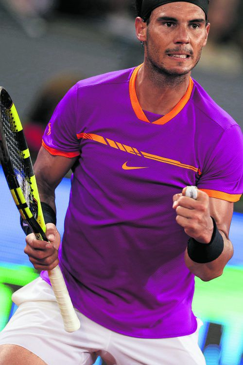 Rafael Nadal hat gegen Novak Djokovic Aufholbedarf. Foto: ap