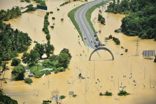 Schwere Unwetter und heftige Stürme sorgen für Katastrophenstimmung in Südostasien. Foto: afp