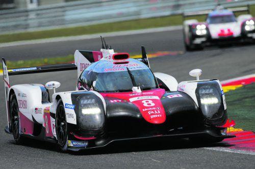 Sebastien Buemi und seine Kollegen gaben im Toyota in Spa das Tempo vor. Foto: gepa