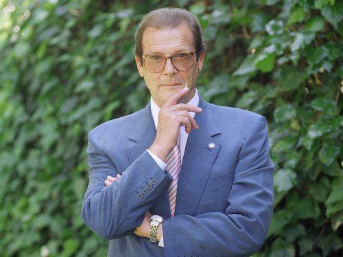Sein Name wird in erster Linie mit James Bond in Verbindung gebracht. Roger Moore spielte Bond in sieben Filmen der Reihe. Foto: ap