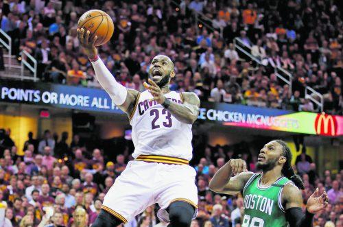 Siebter Auftritt in Folge in der Finalserie der NBA: LeBron James. Foto: apa