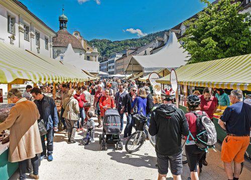 Spezialitätenmarkt am kommenden Samstag, 6. Mai,von 10 bis 14 Uhr in der Kornmarktstraße in Bregenz. Foto: Udo Mittelberger