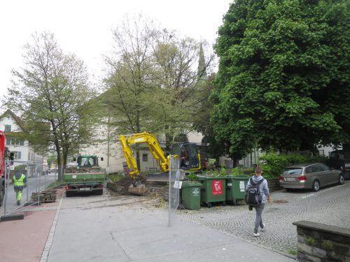 Start der Erweiterung der Fußgängerzone ist in diesen Tagen erfolgt. ha