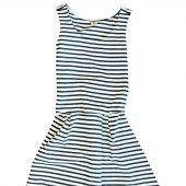 """<p class=""""caption"""">Strandtauglich: Luftiges Kleid im Marine-Look von 17 & Co. Gibt's bei der Fussl Modestraße um 35,99 Euro.</p>"""