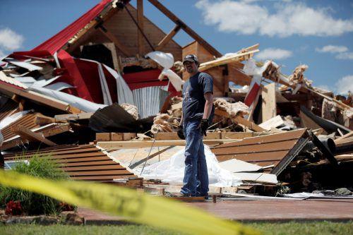 Texas wurde am Samstag von mehreren Tornados getroffen, dabei starben mindestens vier Menschen. Foto: reuters